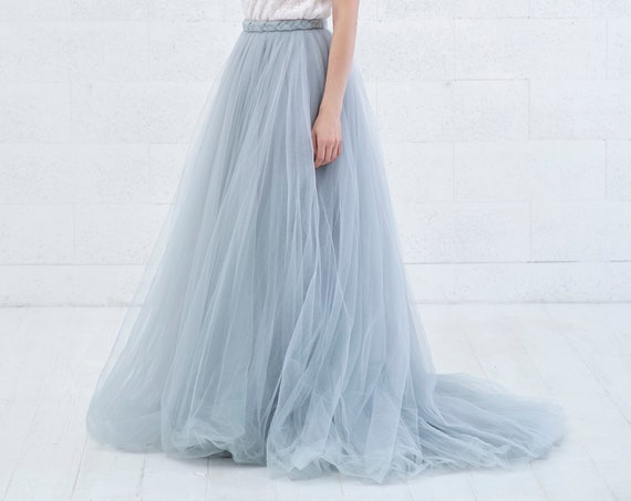 Cora - braid detail tulle wedding skirt