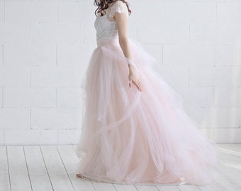 Cleo - whimsical and romantic tulle wedding dress with tulle bow