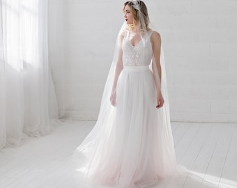 Helene - very subtly dip dyed wedding dress