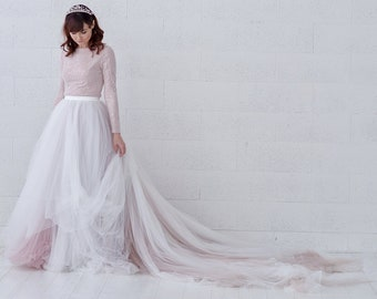 Raina - ombre tulle wedding skirt and sparkling beaded top