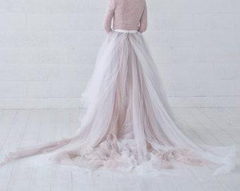 Raina - ombre bridal skirt