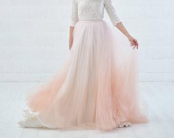 f2618af49fae Freya - bridal overskirt / wedding dress detachable skirt / detachable  ombre tulle / detachable bridal gown skirt