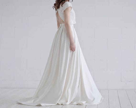 Aiko - crop top wedding dress in satin