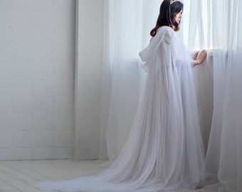 Ethereal - hooded bridal cloak