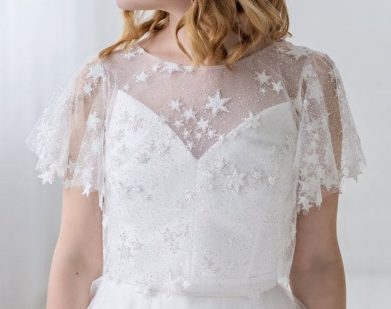 Celeste - bridal cover up with stars