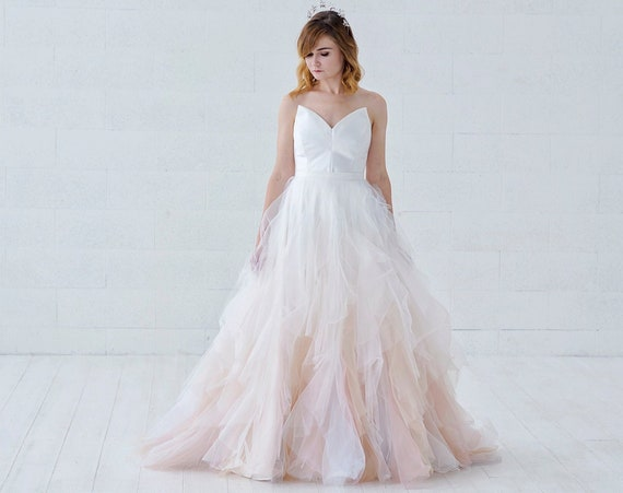 Nayeli - watercolor ombre wedding dress