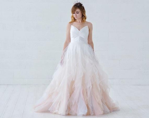 Nayeli - watercolor ombre wedding dress
