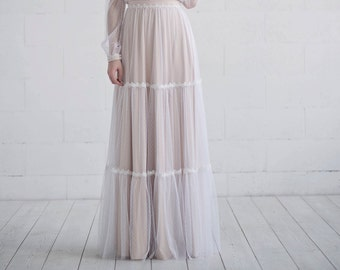 READY TO SHIP retro wedding skirt size 0-2