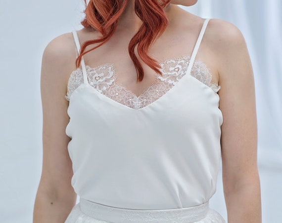 Linnea - bridal camisole with lace