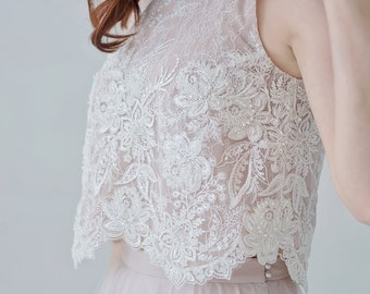 Zahara - beaded luxurious bridal crop top