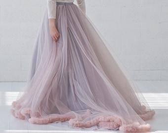 Paloma - tulle ruffle hemline wedding skirt