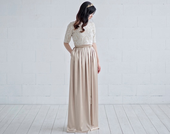 Oria - gold wedding dress