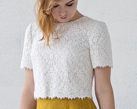 Penelope - bridal crop top