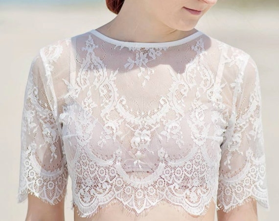 Alexandra - bridal lace topper