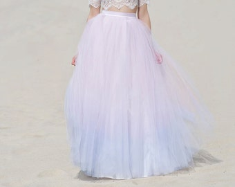 READY TO SHIP ombre bridal tulle skirt  size 0 - 2