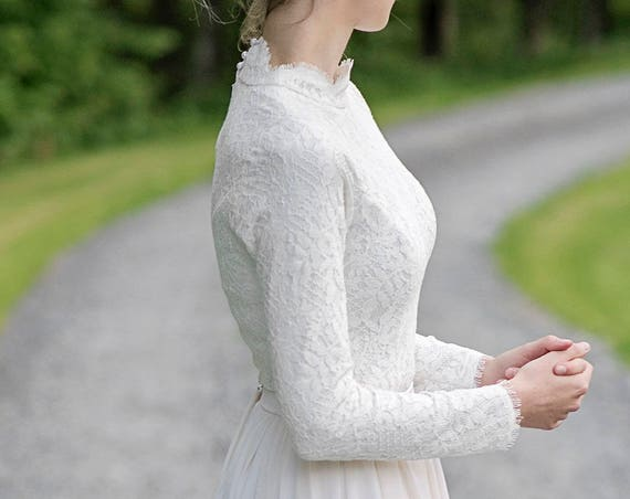 Laurel - high neck bridal top