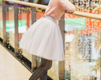 Blooming Ballerina 2: hand dyed tulle skirt  / adult tutu / ladies tulle skirt / women tulle skirt / custom dyed skirt  /  soft tulle skirt