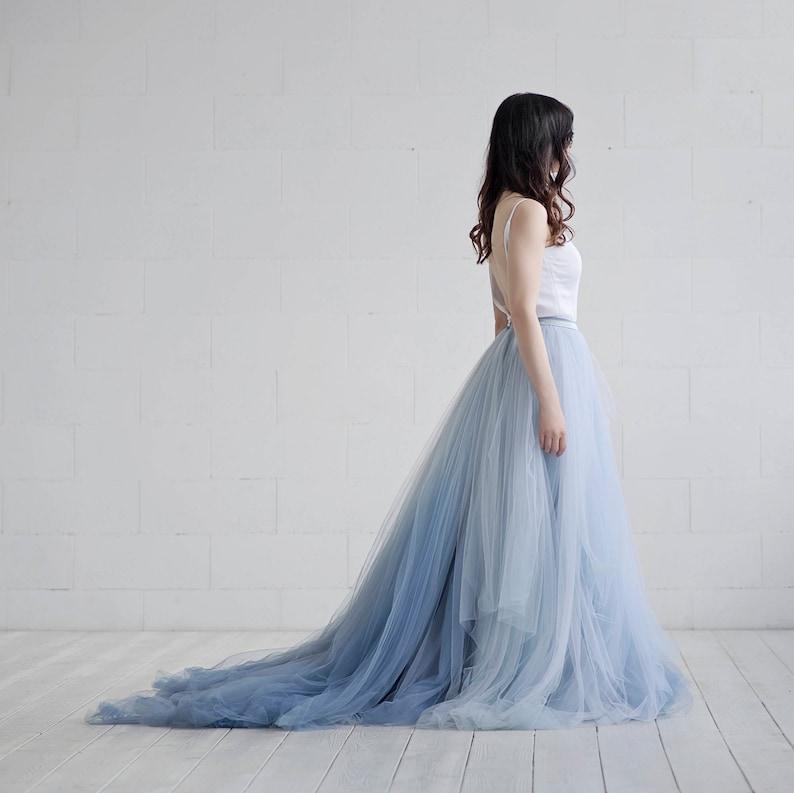 a1bb449884 Nora ombre bridal skirt / tulle wedding skirt / tulle bridal | Etsy