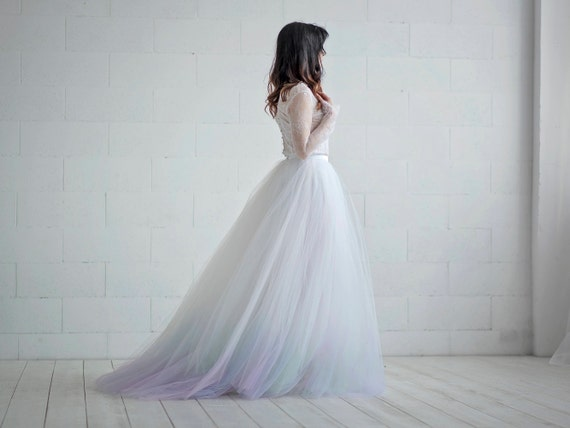Aurora - northern lights ombre gown