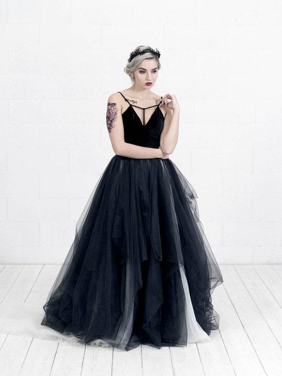 Lilith - two tone bridal skirt