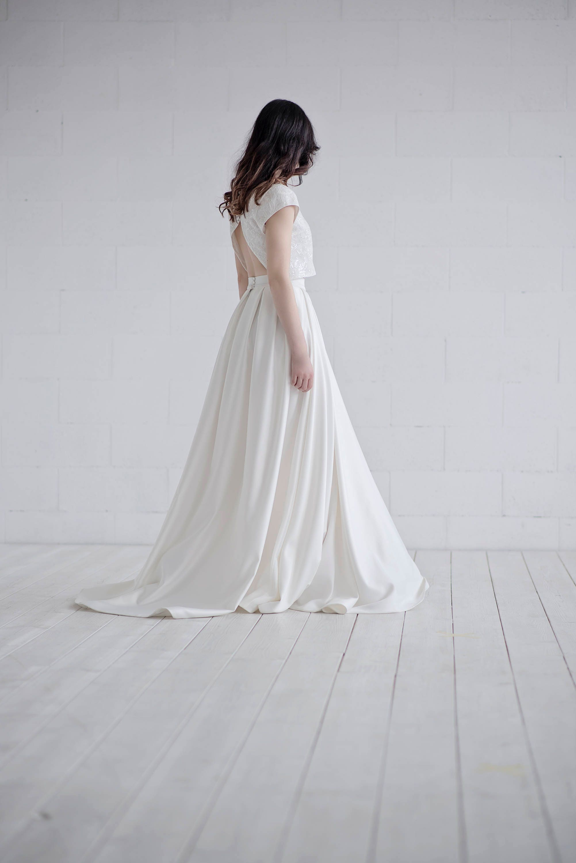 8e26a58504506a Aiko - crop top wedding dress in satin
