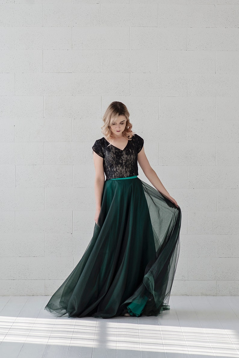 Morgana alter ego  emerald and black wedding dress / image 0