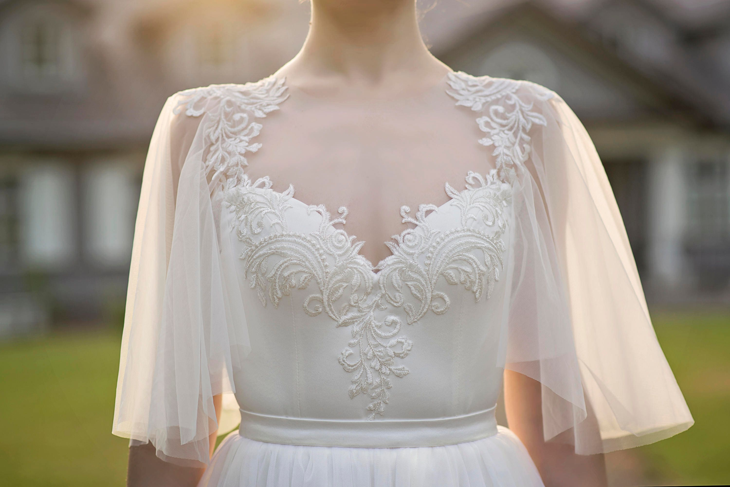 Grace Flutter Sleeve Bridal Bodysuit