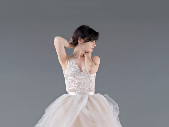 Catherine - bridal lace top