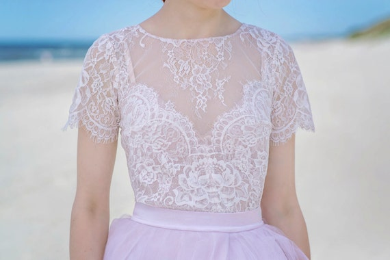 Serenity - lace bridal blouse