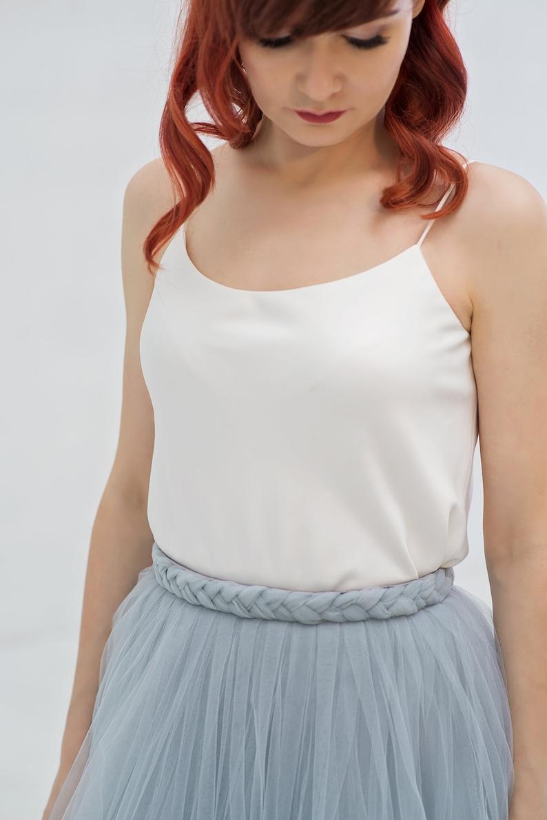 Bridal camisole no. 1  straight neckline bridal camisole with image 0