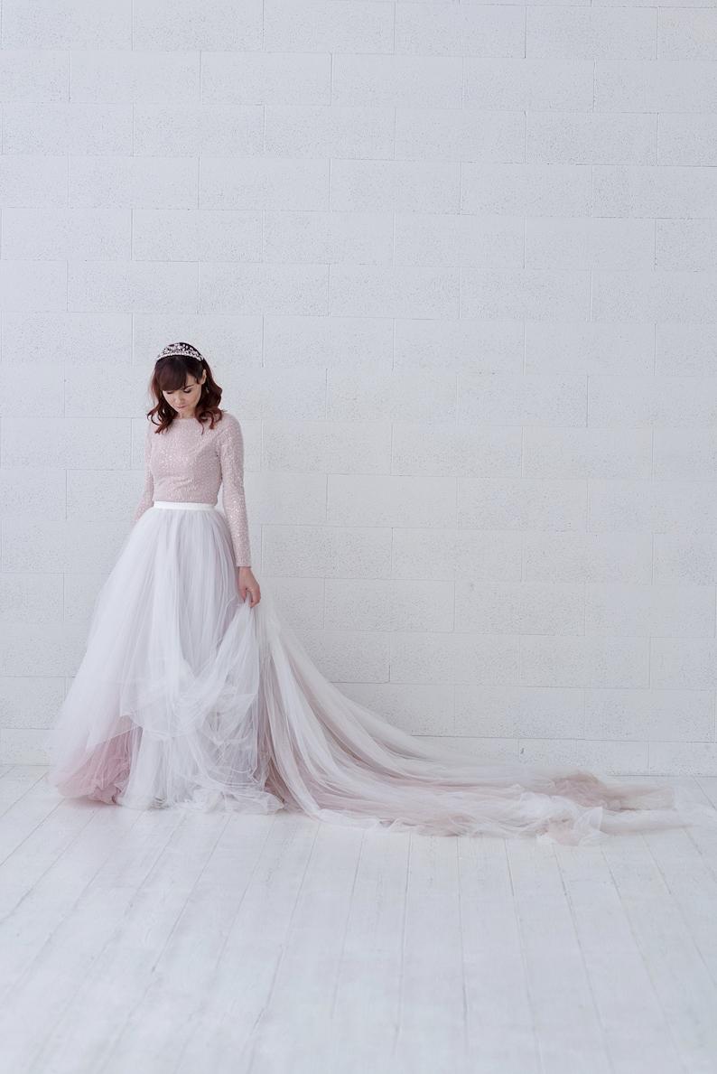 Raina  ombre bridal skirt / tulle wedding skirt / tulle image 0