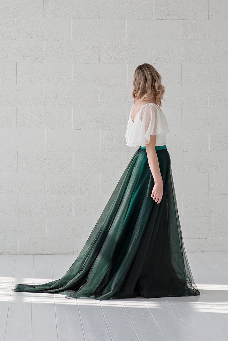 Morgana  slim A line tulle skirt / flat tulle skirt / image 0
