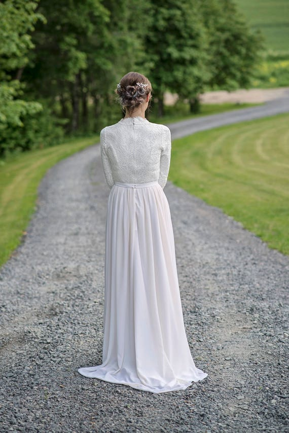 SHIP skirt a ivory 0 chiffon skirt train TO 2 bridal size skirt chiffon wedding size chiffon skirt bridal skirt with READY wIYxfaq5wz
