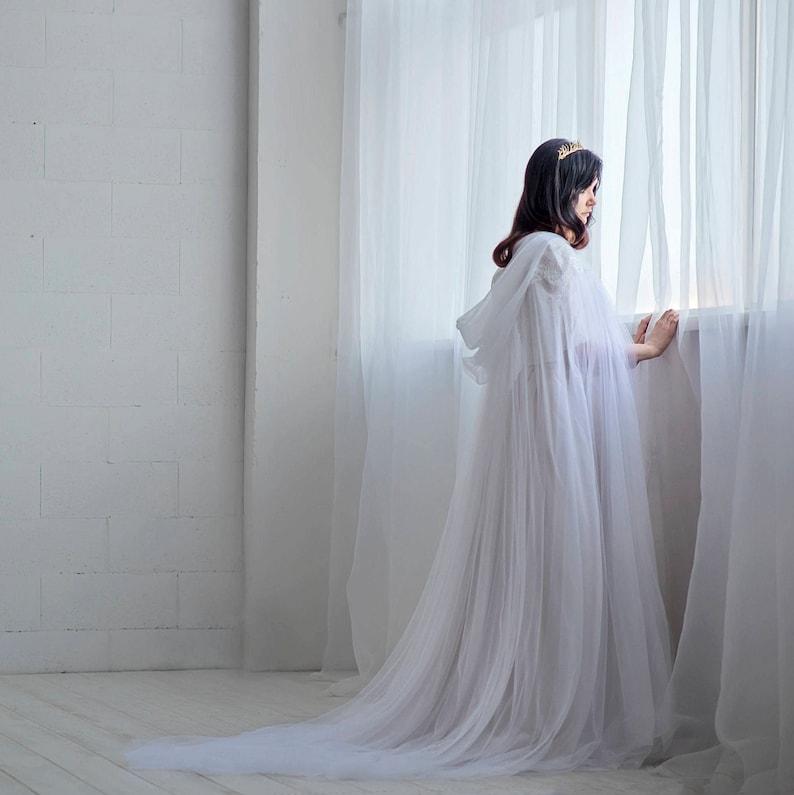 Wedding Dress Cover Up.Ethereal Bridal Cloak Wedding Cape Bridal Cape Tulle Bridal Cloak Wedding Cloak Unique Bridal Cover Up Veil Alternative