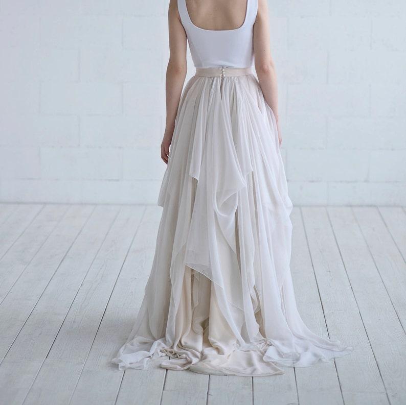3f1daa63 Maegan chiffon bridal skirt / lightweight bridal skirt / | Etsy