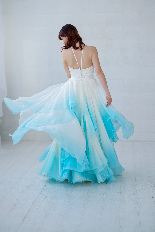 Skye Wedding Dress Ombre Wedding Dress Bridal Separates Two
