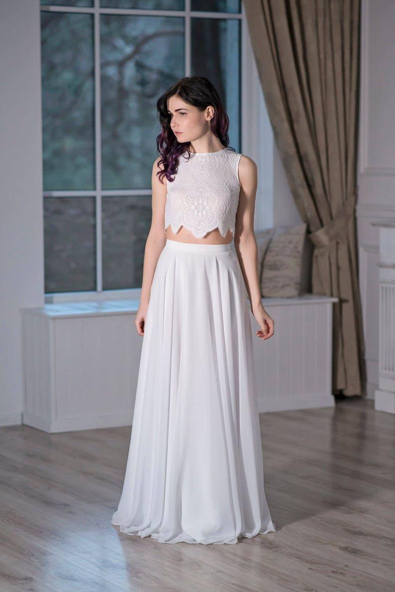 eecf63e12b9dd6 Iris chiffon bridal skirt   slim silhouette bridal skirt   A
