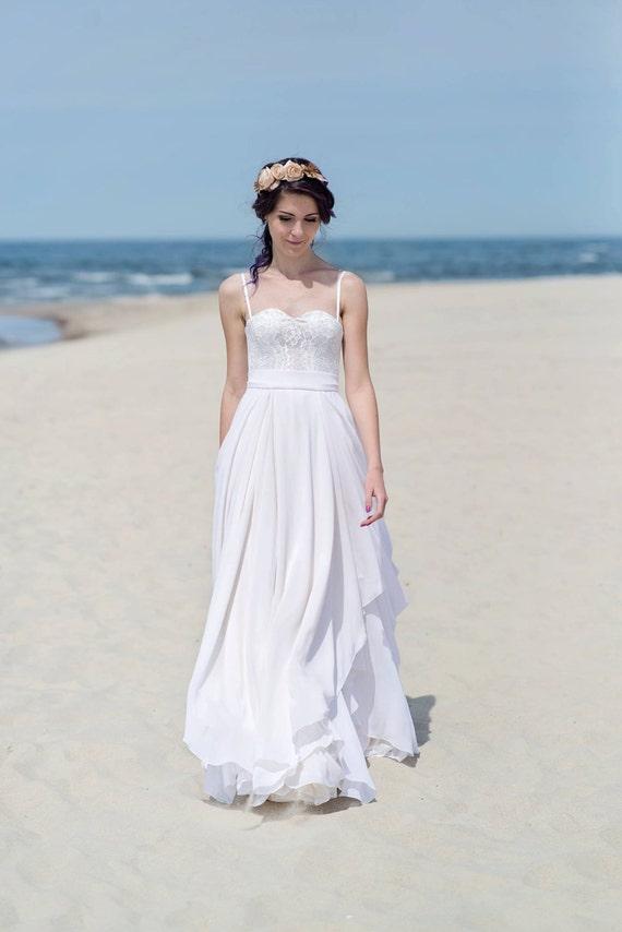 Eirene - layered and draped bridal chiffon skirt