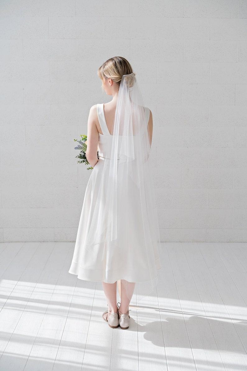 River  handkerchief veil / square shape bridal veil / wedding image 0