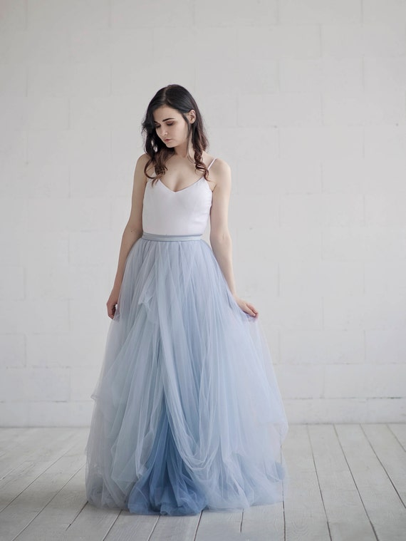 Nora ombre wedding dress / lace and tulle wedding dress / | Etsy