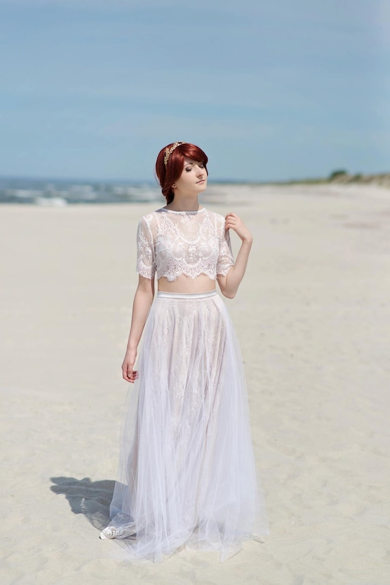 Alexandra boho wedding dress / hippie wedding dress ...
