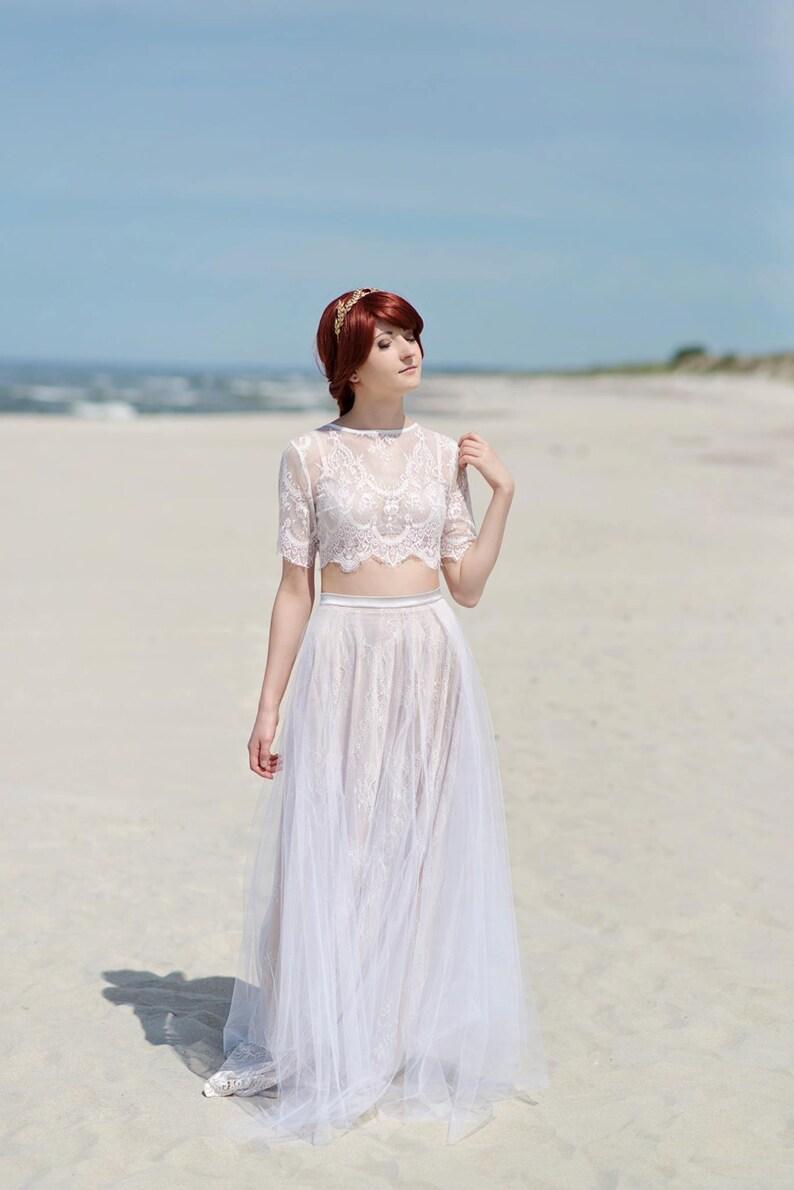 Alexandra Abito da sposa boho   hippy matrimonio vestito    af2a679f809