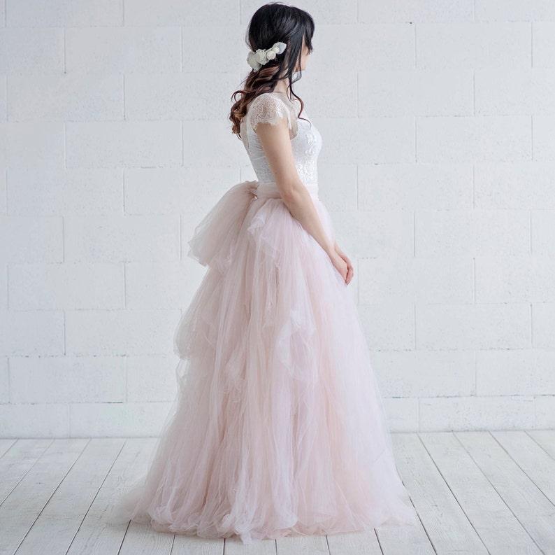 510213e0dd Cleo bridal tulle skirt / whimsical bridal skirt / textured | Etsy