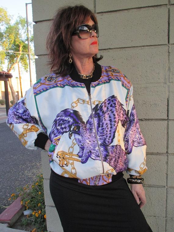 46b7c6ee6bc3f6 Vintage Artsy Tres-Beau eagle zip bomber jacket