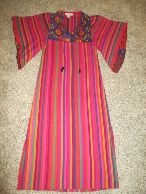 RARE RIKMA 70's colorful woven cotton angel wing m
