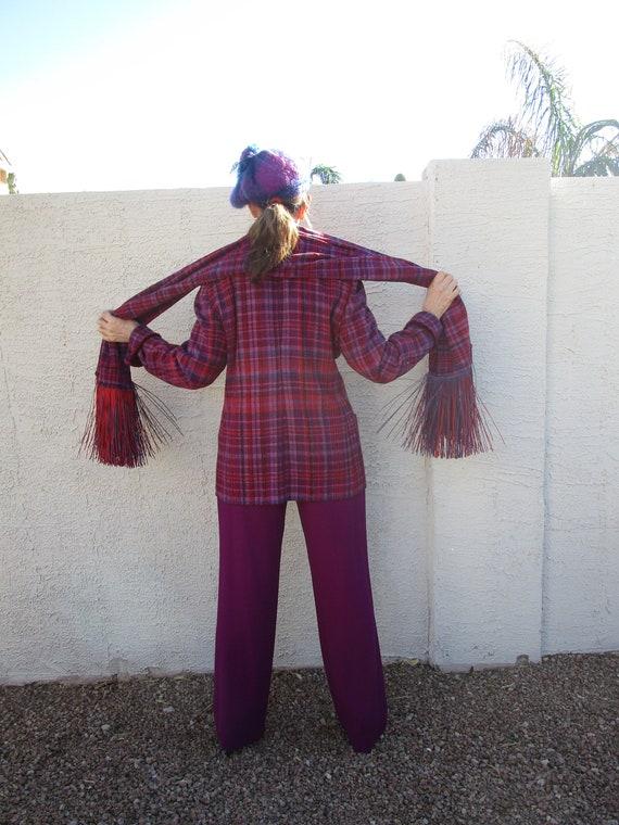 Rare find Vintage 4pc Hot Pink Purple Plaid pant … - image 6