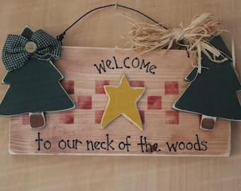 Country Welcome Sign