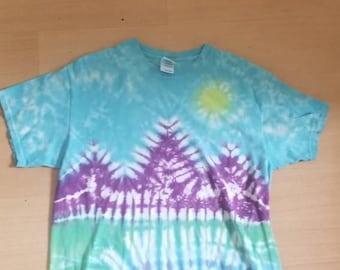 Mountain range tie dye
