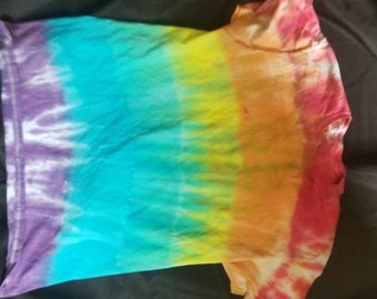 Striped rainbow tie dye