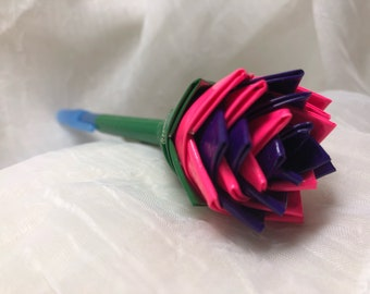 Pink and Purple Flower Pen